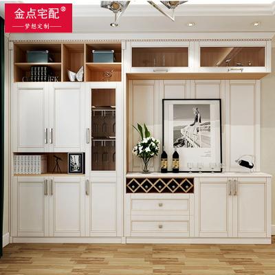 金點宅配全屋整體定制簡約美式餐廳酒柜餐邊柜烤漆門板式家具