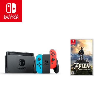 任天堂(NintendoSwitch) 家用游戲機續航增強版(紅藍)掌機NS體感游戲機+塞爾達荒野之息中文實體卡帶