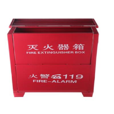 二氧化碳滅火器箱子消防箱5KG2只裝滅火器箱套裝家用商用消防器材5kgX2(個)