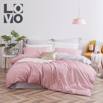 LOVO家紡羅萊生活出品純棉四件套全棉床品套件床上用品床單被套1.5m/1.8米床