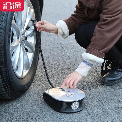 沿途(YANTU)車載充氣泵 E26 多功能便攜式小轎車用加氣泵打氣筒汽車輪胎打氣泵