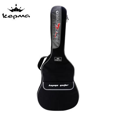 卡馬kepma吉他包加厚海綿防水40寸41寸手提雙肩背包黑色