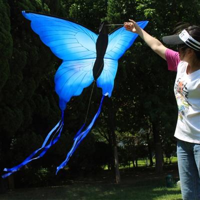 濰坊風箏蝴蝶風箏藍蝴蝶風箏閃電客設計新穎漂亮容易飛