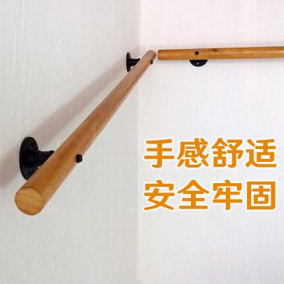 樓梯扶手老人兒童靠墻樓梯扶手家用室內扶手走廊通道圓木扶手 方形240cm(分兩節)