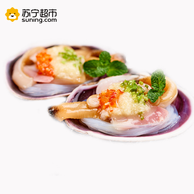 福字号 大连冷冻蒜蓉粉丝紫石房蛤大蛤360g 6只