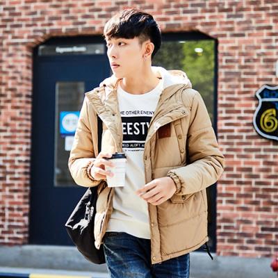 1件1.5折唐獅冬裝新款棉衣男連帽保暖加厚韓版潮男士青年短款棉衣外套_