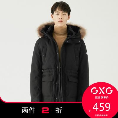 【兩件2折:459】GXG男裝冬季商場同款黑色羽絨服#GA111716G
