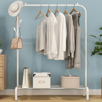 落地折疊室內單桿式曬衣架晾衣架衣帽架古達臥室掛衣架家用簡易涼衣服的架子