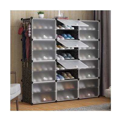 简易鞋柜鞋架简约现代防尘多层多功能组装塑料鞋架黎卫士省空间家用经济型门厅柜