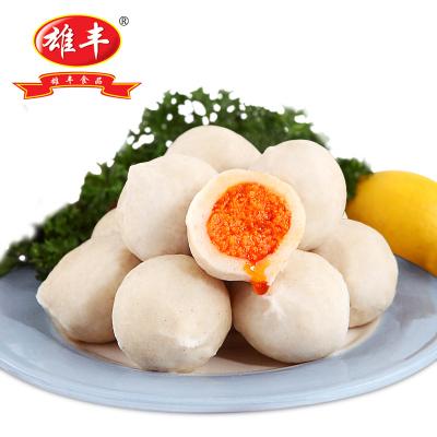 雄豐蟹籽包心丸500g 魚丸蟹子丸魚類制品肉丸子火鍋食材材料