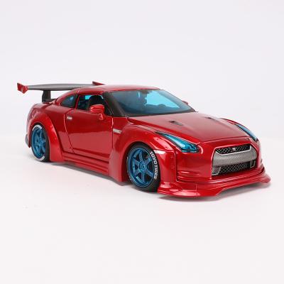 適用于日產NISSAN 1:24 GTR R35 改裝版 仿真合金汽車模型玩具 美馳圖