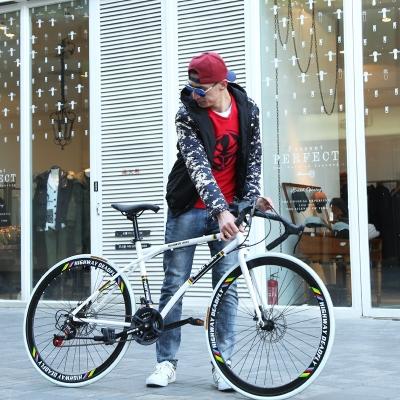 王太醫彎把公路賽車自行車變速死飛實心胎活飛26寸單車學生網紅男女成人