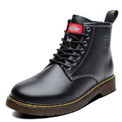 Dickies女鞋秋季新款加绒高帮马丁靴女短靴欧美风粗跟学生靴子潮194W50LXS29