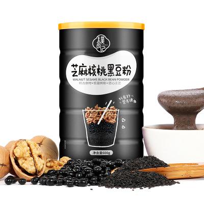璞食记 黑芝麻核桃黑豆粉 黑芝麻糊熟五谷杂粮营养即食早餐代餐粥