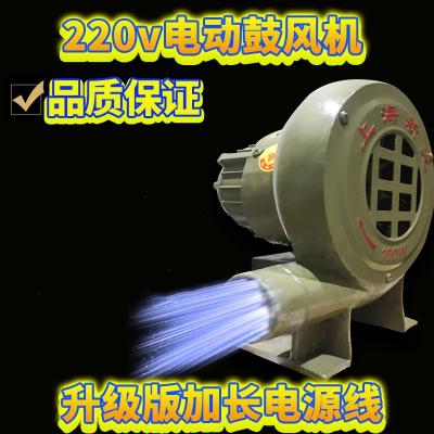 电动鼓风机大功率小型家用烧烤吹碳专用220v柴火炉煤炭炉风机煤炉 喷塑铁皮款30w线长1.9米+开关