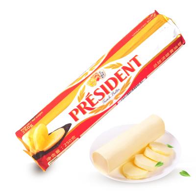 法國進口 總統淡味黃油卷250g 發酵面包餅干原料動物性黃油烘焙原料butter