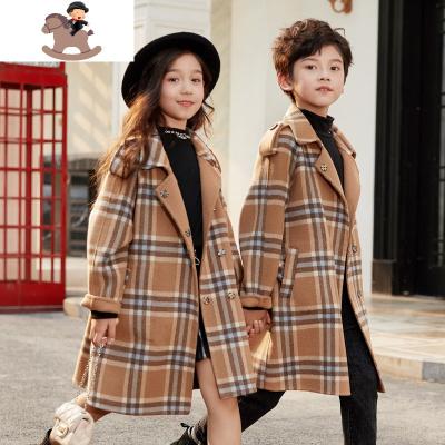 女童双面羊绒大衣2019新款秋冬装呢子洋气男童中长款毛呢外套儿童