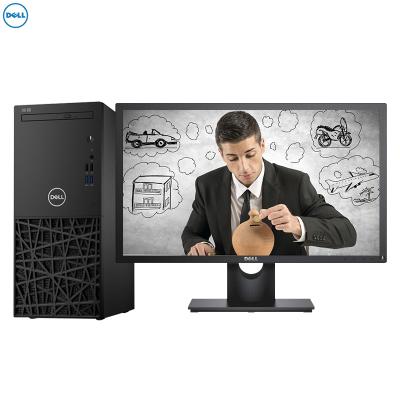 戴尔(DELL)成铭3980 商用台式电脑 23.8英寸显示器(i5-8500 8GB 1TB+256GB固态 刻录 4G独显 W10H)商用办公 家用娱乐 性价比机 企业采购
