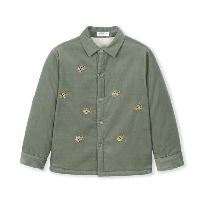 巴拉巴拉宝宝衬衫长袖秋冬2019新款童装儿童衬衣保暖加绒加厚寸衣