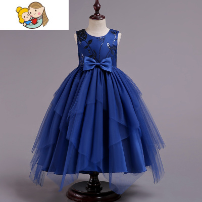女童新款夏裝蓬蓬紗連衣裙小女孩婚紗裙子兒童夏季洋氣公主裙