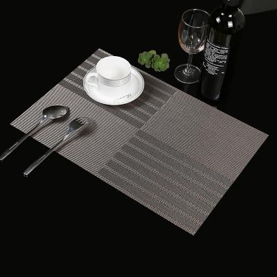 桌布餐桌垫盘碗碟西餐垫4张防滑餐垫欧式PVC隔热垫
