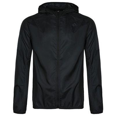 阿迪达斯(adidas)秋季新款男士梭织连帽透气跑步训练运动夹克外套DN8763
