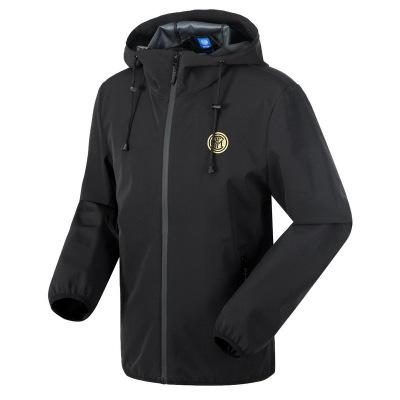 國際米蘭俱樂部Inter Milan 2019年新品男子休閑戶外運動防風防潑水保暖夾克梭織外套