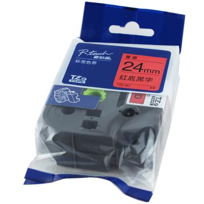 兄弟(brother)TZe-451標簽色帶/碳帶 紅底黑字 打印寬度24MM 彩色 原裝正品