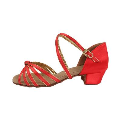 因樂思(YINLESI)拉丁鞋 女兒童小 兒童拉丁舞鞋女童跳舞鞋女孩軟底中拉丁鞋女成人練舞鞋