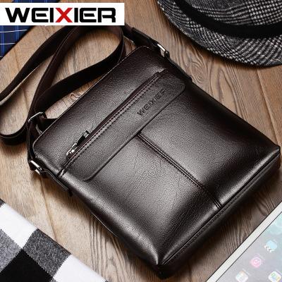 维希尔/WEIXIER 新款单肩包男士休闲斜挎包商务公文包时尚背包