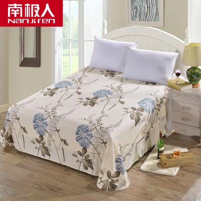 南极人(NanJiren)家纺 纯棉床单单件 床上用品1.2m床1.5m床1.8米床全棉床单花朵/草/叶子床罩单品