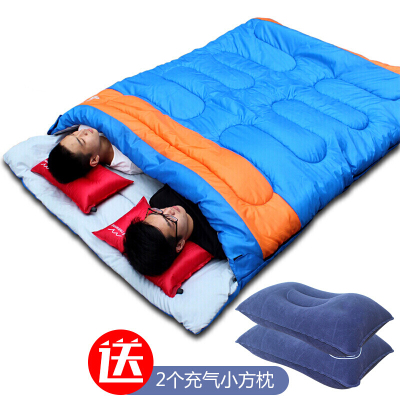 SamCamel雙人羽絨睡袋成人戶外2人露營午休秋冬季加寬保暖情侶睡袋