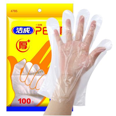 潔成加厚一次性手套100只食品龍蝦手套 PE薄膜家用美容染發方便實用其他
