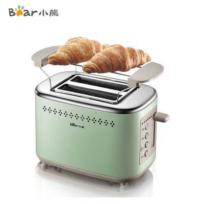 小熊(bear)多士炉烤面包片机全自动家用小型 吐司机不锈钢2片早餐机神器三明治机DSL-C02A1