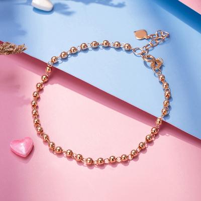 老廟黃金 【2020新款】18K金 圓珠光珠手鏈手飾女