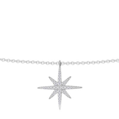 APM MONACO 女士 時尚氣質星星S925純銀鑲晶鉆海星吊墜項鏈 AP9606OX