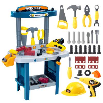 勾勾手兒童過家家玩具 工程師多功能工具臺 男孩寶寶過家家工具桌 多功能工具臺