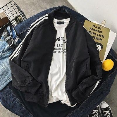 春季青少年男學生潮流棒球服夾克男裝秋裝外套褂子百搭上衣服