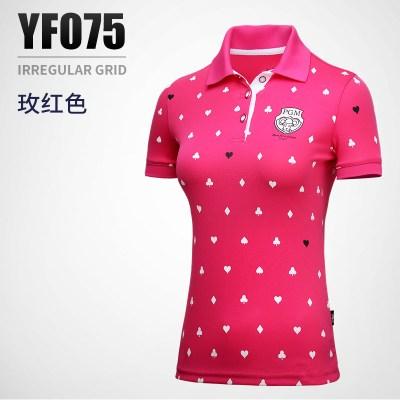 高尔夫服装 女士夏季球衣短袖T恤上衣