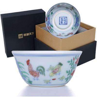 明成化斗彩鸡缸杯(复刻版)