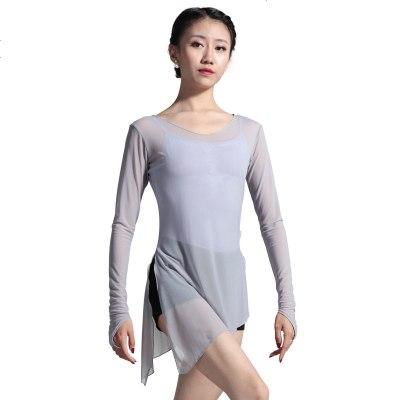 舞蹈网纱上衣罩衫芭蕾形体练功服成人女民族舞古典舞纱衣