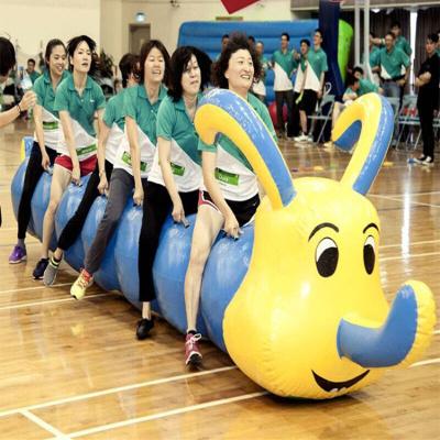 因樂思(YINLESI)趣味運動會道具充氣毛毛蟲競速旱地龍舟游戲戶外拓展訓練團隊器材