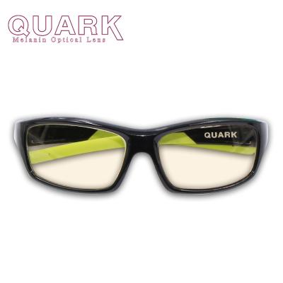 美国专利Quark儿童防蓝光眼镜防紫外线防辐射眼镜全框电脑手机护目镜黑色素防护镜眼镜抗蓝光平光眼镜日夜防蓝紫光超轻男童