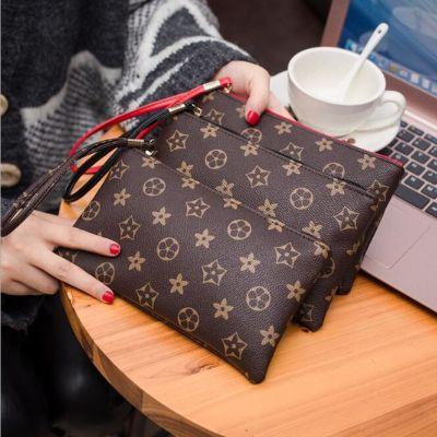新款時尚女士長款經典老花錢包簡約歐美風潮流手拿包手拎包零錢包