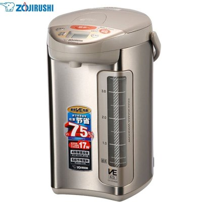 象印(ZO JIRUSHI)电水瓶CV-DSH40C日本原装进口不锈钢真空保温省电电水壶电多段保温热水瓶电动出水 4L