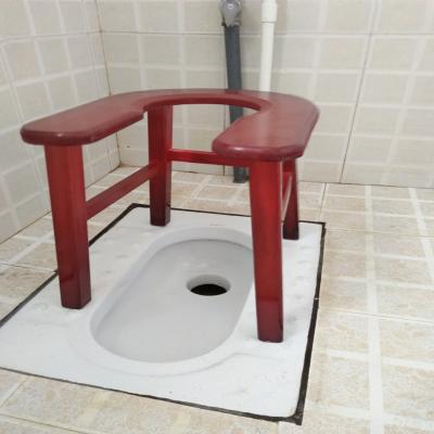 老人坐便椅實木坐便凳CIAA孕婦移動馬桶椅木質坐便器簡易廁所老年家用 加厚加寬高36cm送防滑腳墊