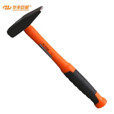 華豐巨箭(HUAFENG BIG ARROW)包塑柄鉗工錘敲擊錘救生鐵錘子榔頭扁頭錘敲打五金工具 300G雙塑檳鉗工錘
