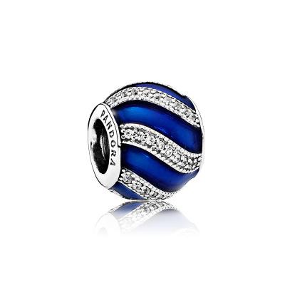 PANDORA潘多拉 925銀串飾藍色配飾串珠 791991EN118