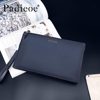 帕迪欧男款手包正品新款潮牛皮手拿包韩版时尚休闲多功能皮包