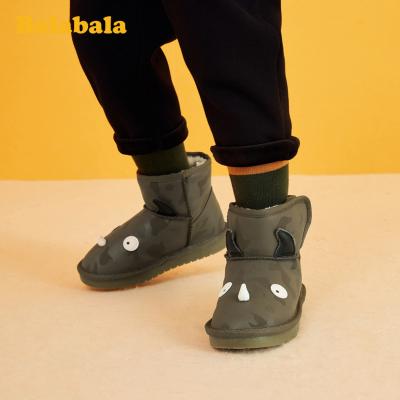 【1件5折】巴拉巴拉儿童雪地靴男童靴子短靴2019冬季新款时尚灯鞋保暖韩版男